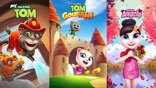 Talking Tom Gold Run - My Talking Tom vs My Talking Angela Gameplay Great MakeOver