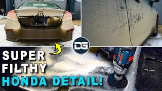 Deep Cleaning a FILTHY DIRTY Honda Civic! | Super Muddy Pressure Washing and Car Detailing!