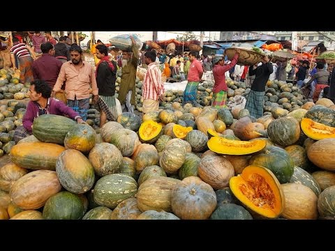Most Amazing Big Vegetables Market Karwan Bazar Dhaka Bangladesh