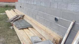 Дом из керамзитных бетонных блоков
