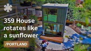 Portland's Rotating Skinny House Follows The Sun Like A Sunflower