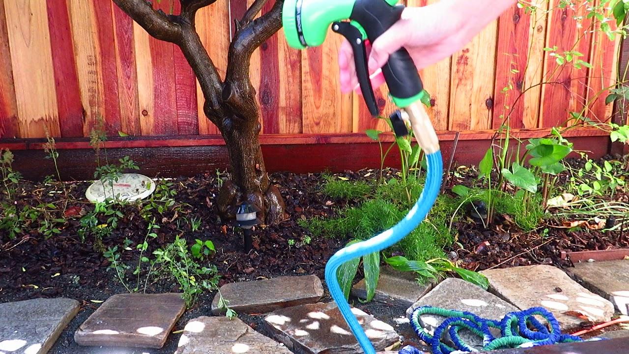 garden hose with fancy water spray youtube