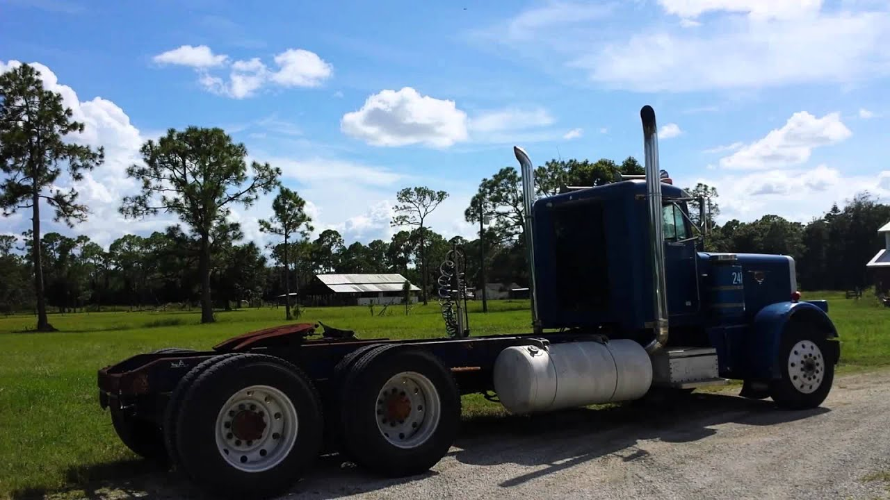 Loading up the 84 peterbilt 359 400 big cam with straight ...