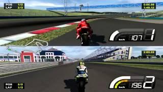 MotoGP 2007 Split Screen Gameplay
