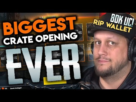 BIGGEST CRATE OPENING IN PUBG MOBILE HISTORY - 80,000 UC+