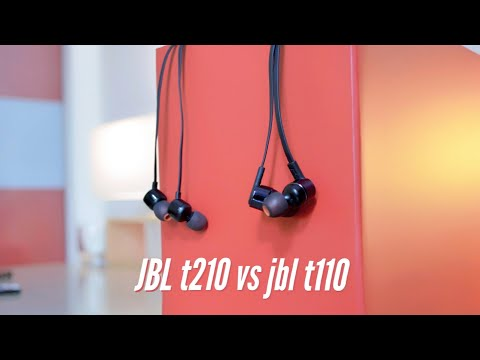 Jbl t210 vs jbl t110 [ pure bass earphones ]