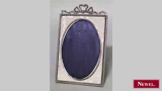 Antique English Victorian Silver-plate Easel Picture Frame