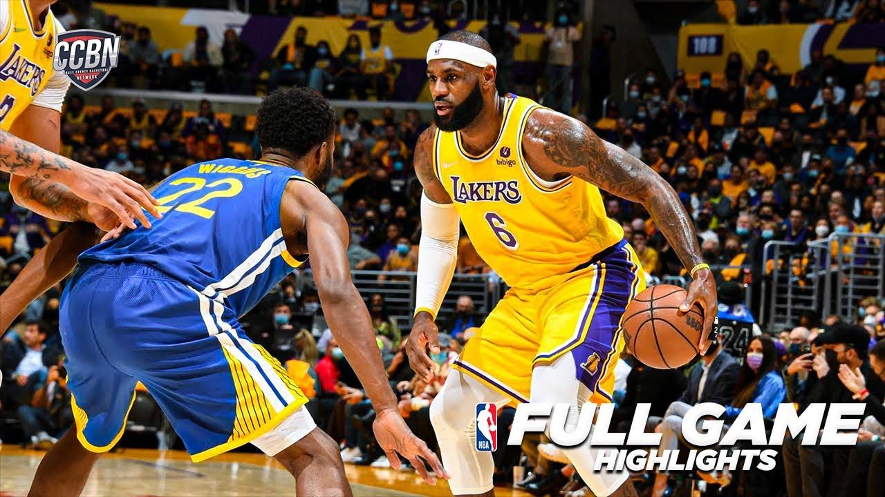 Download GS WARRIORS vs LA LAKERS   2021-22 NBA SEASON   FULL GAME HIGHLIGHTS