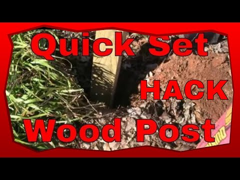 How To Set A Pressure Treated 4x4 Wood Post Carpentry Tips