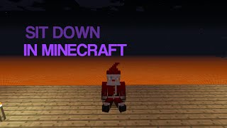 How To Sit Down In Minecraft Pe No Mods