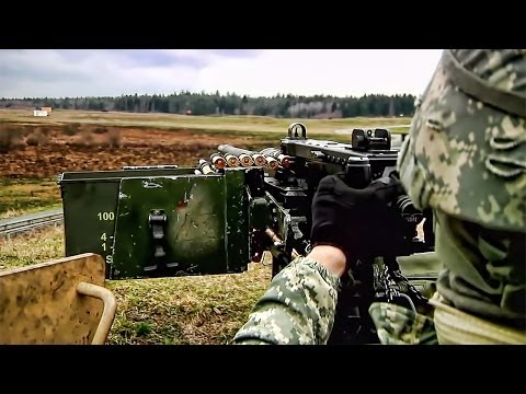 .50 Cal Turret Mounted Humvee In Action