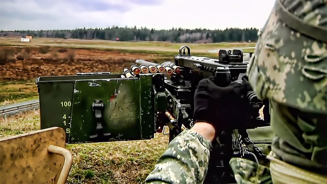 50 cal turret mounted humvee in action youtube