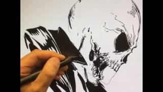 Live Drawing of Ghost Rider