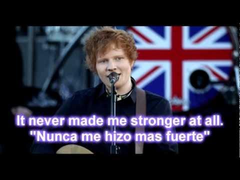 Ed Sheeran - Drunk Lyric/Letra Ingles/Español
