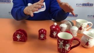 Видеообзор салфетницы «Олень и Снеговик»