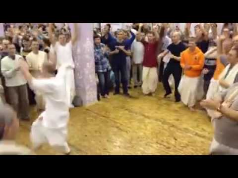 Foreigners krishna devotees awesome dance in Iskcon temple