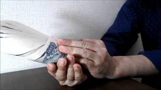 札勘、横読み動画を裏から超スローです 集金で千円が50枚以上になったの...
