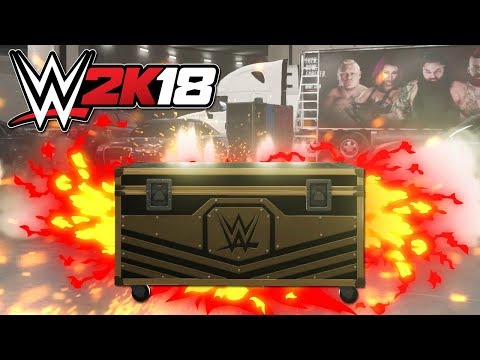 WWE 2K18 - LOOT CASE OPENING + My ISSUE With the Loot Cases