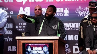Adrien Broner vs. Ashley Theophane Complete Final Press Conference & Face Off video