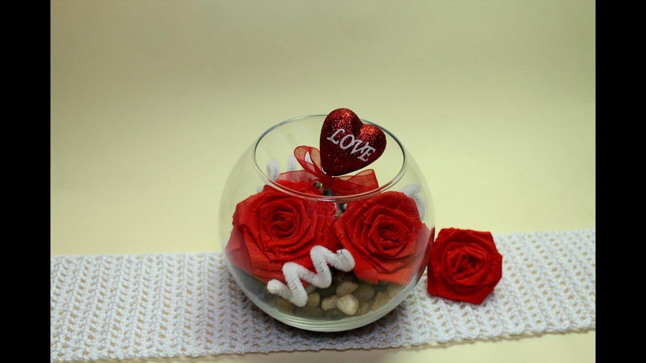 Como hacer un centro de mesa para san valentin youtube - Como hacer adornos de san valentin ...