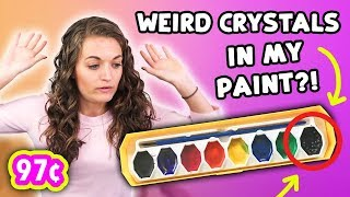 TESTING THE CHEAPEST WATERCOLORS I COULD FIND?! // 97¢ CRA-Z-ART PAINTS