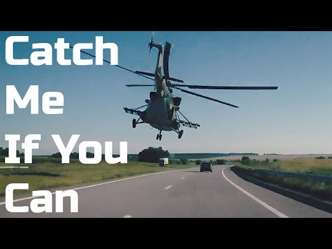 Racing a Military Helicopter Down The Highway