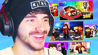 Reacting to my old Minecraft Murder Mystery videos!