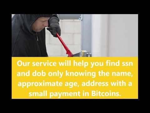 Buy SSN And DOB Online With Bitcoin