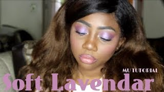 TRENDY SOFT LAVENDER SPRING MAKEUP + FIRST IMPRESSIONS| nyx Cosmetics, La Girl, Maybelline