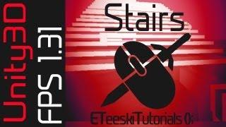 FPS1.31 Stairs. Unity3D FPS Game Design Tutorial.