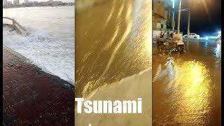 Eerie Tsunami appears 90 minutes before big quake - 1000 miles away!