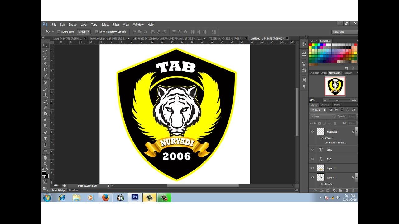 cara membuat desain logo club motor # 2 - YouTube