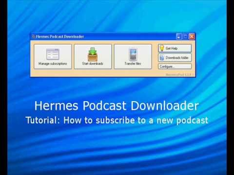 Hermespod: How to subscribe to a new podcast