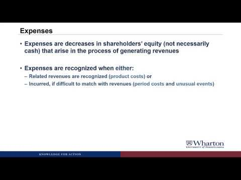 An Introduction to Financial Accounting 2.1 Revenues and Expenses