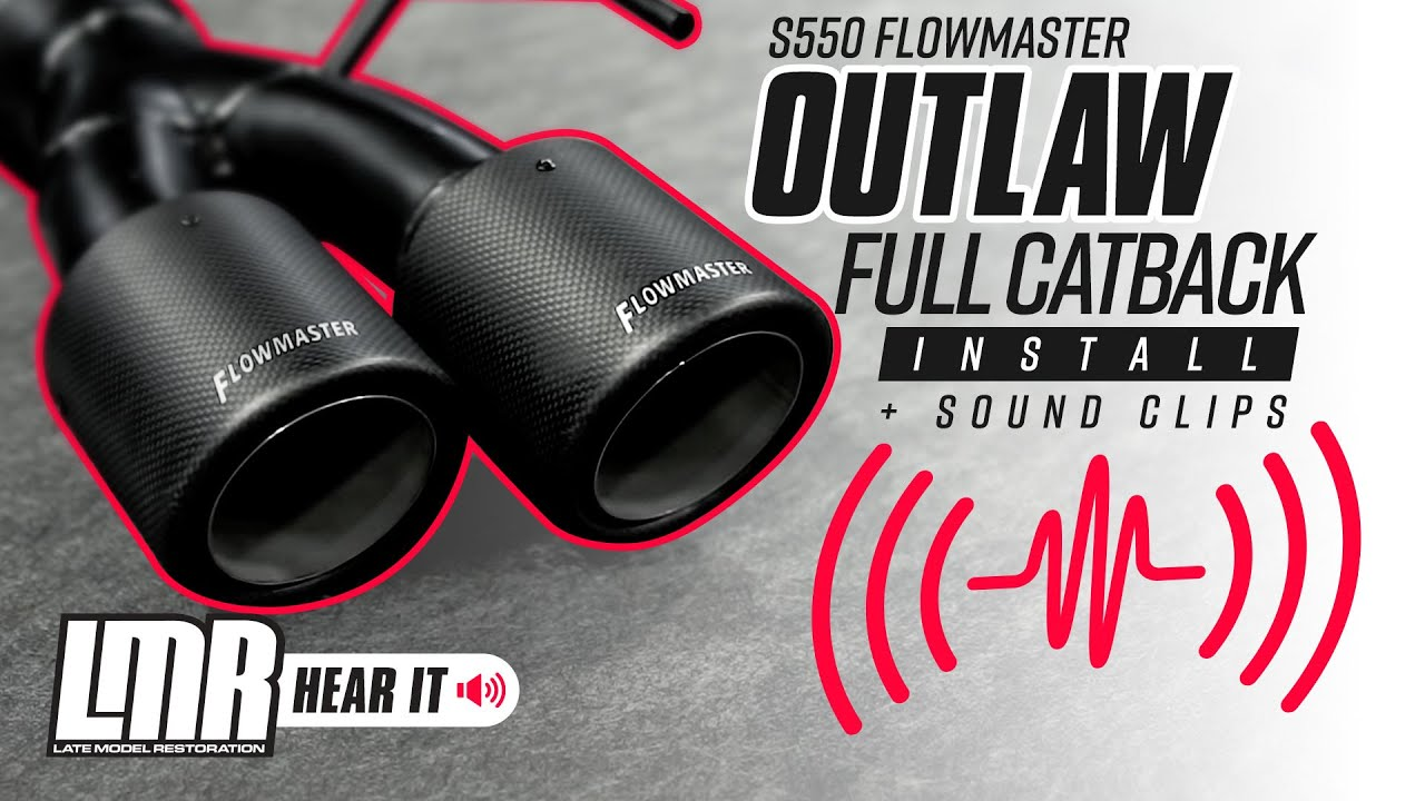 2018 Mustang Flowmaster Outlaw Catback Exhaust Kit - w/o Active Exhaust GT  by Flowmaster