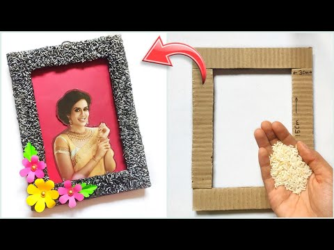handmade-father's-day-gift-idea-from-waste- -best-out-of-waste-gift-how-to-make-newspaper-photo-fram
