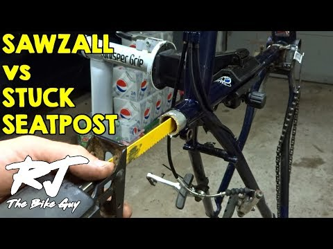 Removing Stuck/Frozen Seatpost By Cutting With Sawzall