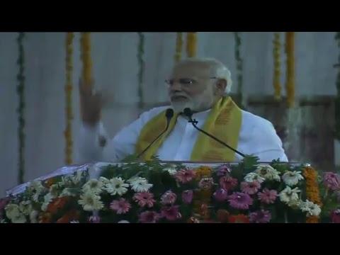 PM Shri Narendra Modi addresses public meeting in Varanasi, Uttar Pradesh