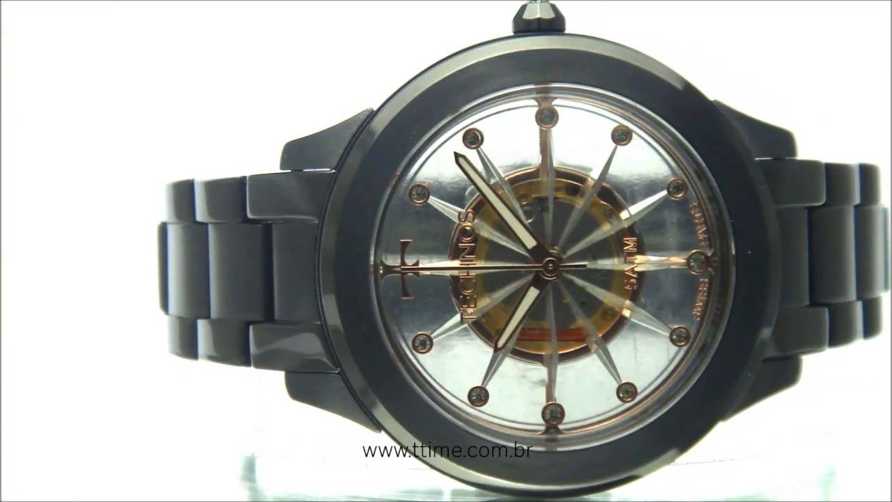 d871bb7b0d378 Relógio Technos Feminino Essence Swiss Parts F03101AC 4W - YouTube