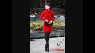 Uzun Kollu Kışlık Tunik Elbise Modelleri İle Bayanlar Kışın Üşümeyecek