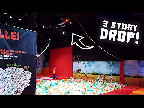 3 Story Roof Drop at the Dudesons Activity Park! (with Jarppi and Jarno)