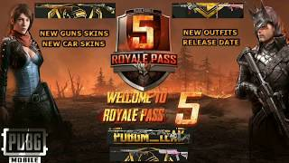 SEASON 5 ROYAL PASS REWARDS | ZOMBIE MODE EXPECTED | PUBG MOBILE