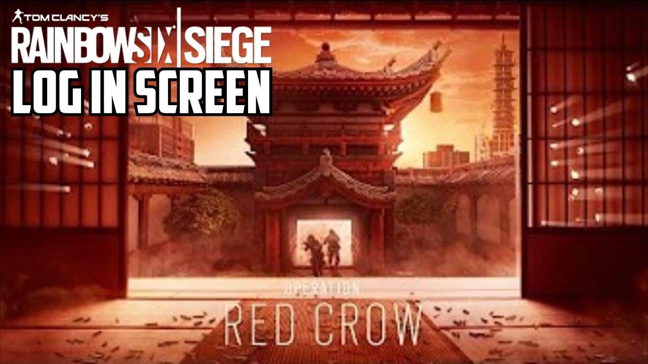 24 Wallpaper Hd Rainbow Six Siege Operation Red Crow Log In Screen