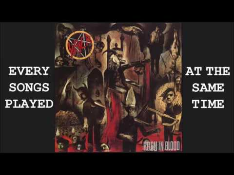 SLAYER – Every songs played at the same time (Thrash metal, harsh noise)