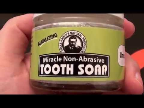 Uncle Harry's Unscented Miracle Non-Abrasive Alkaline Tooth Soap (2 oz glass jar)