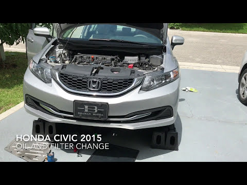 Honda Civic 2015 oil and filter change
