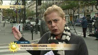 """Direkt från Paris: """"Folk smög sig ner längs väggarna från teatern"""" - Nyhetsmorgon (TV4)"""