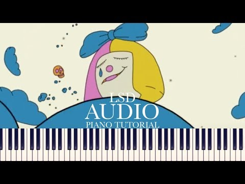 LSD - Audio (Piano Tutorial + Sheets) [ft. Sia, Diplo, Labrinth]