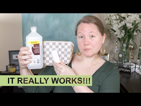 Cleaning INK from Louis Vuitton Bag || Autumn Beckman