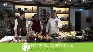 Kochkurs mit Alfons Schuhbeck Kalbfleischpflanzerl mit lauwarmem Kartoffelsalat